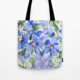 Blue Poppy Field Tote Bag
