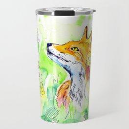 Woodland fox Travel Mug