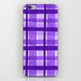 Tissue Paper Plaid - Purple iPhone Skin