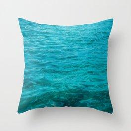 beautiful darken water with light leaks Throw Pillow
