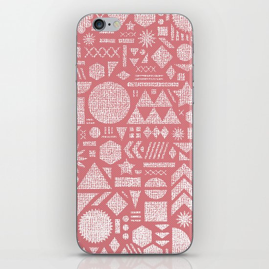 Modern Elements with Bubble Gum. iPhone & iPod Skin