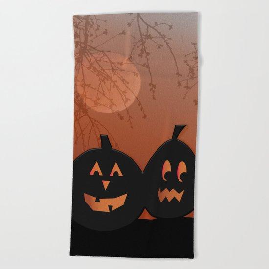 Halloween Pumpkins Beach Towel