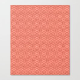 Pantone Living Coral Scallop, Wave Pattern Canvas Print