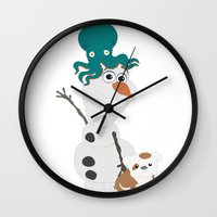 olaf Wall Clocks featuring Olaf & Pals by Cheshire Giraffe