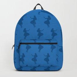 Hula Girls Blue Backpack