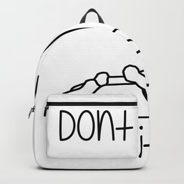 Don't Hate Meditate - Yoga - Workout. Fun & Original buddhism gift. Backpack