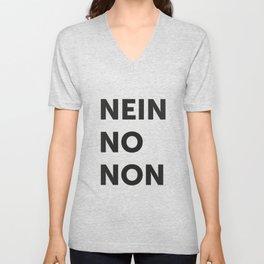 Nein, no, non Unisex V-Neck