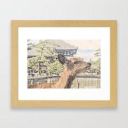 Kyoto Nara Japan ArtWork Painting Framed Art Print
