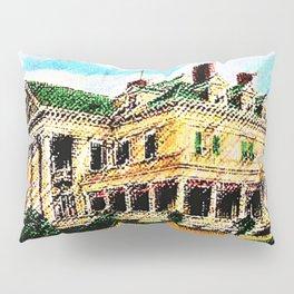 Beachmond Mansion - Newport, Rhode Island Mansion Watercolor - Jéanpaul Ferro Pillow Sham