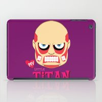 attack on titan iPad Cases featuring My Little Titan by TheBeardedPen