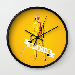 Fight Like a Girl: Beatrix Kiddo Wall Clock