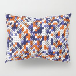 Knitted multicolor pattern 4 Pillow Sham