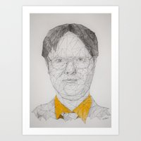 dwight schrute Art Prints featuring Dwight Schrute by Hannah Westhoven
