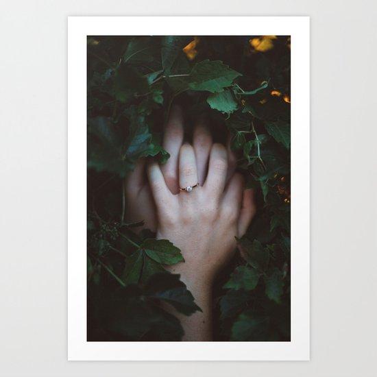 Hands Nature Art Print