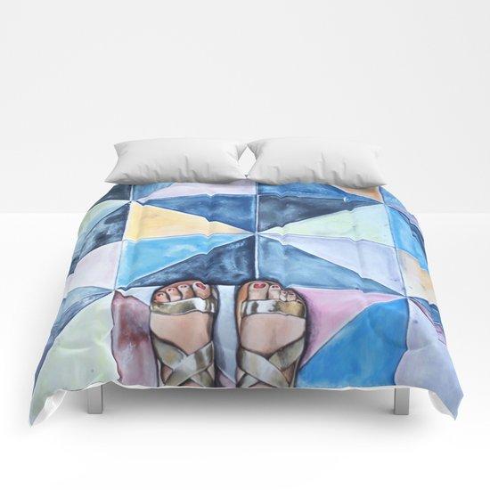 Art Beneath Our Feet - Mykonos Comforters