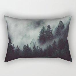 Rain in the forest Rectangular Pillow