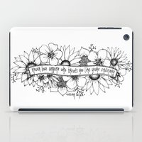 oscar wilde iPad Cases featuring Oscar Wilde flowers by Narts and Crafts
