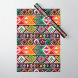 Aztec Artisan Tribal Bright Wrapping Paper