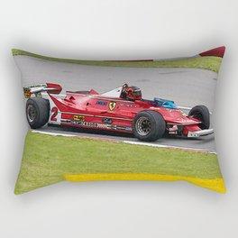 Sketch of F1 Champion Gilles Villeneuve - year 1980 car 312 T5 Rectangular Pillow