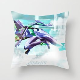 Evangelion Unit 01 - Shinji Ikari's Ride. The Digital Painting. Throw Pillow