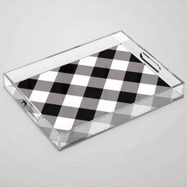 Gingham - Black Acrylic Tray
