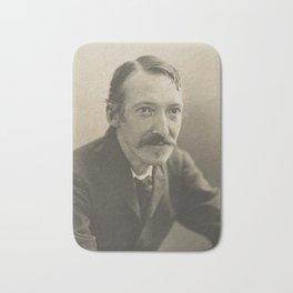 Vintage Robert Louis Stevenson Photo Portrait Bath Mat