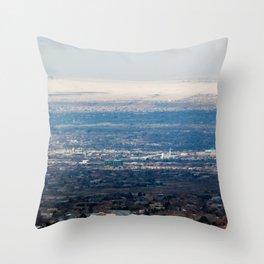 Albuquerque from the Mountains Throw Pillow