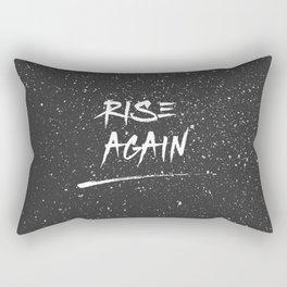 Inspirational Poster - Rise Again (Black & White) Rectangular Pillow