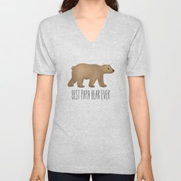 Best Papa Bear Ever Unisex V-Neck