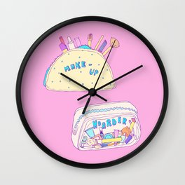 Make-up Hoarder Wall Clock