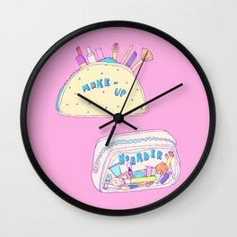 Make-up Hoarder Wall Clock