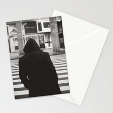 black hood Stationery Cards