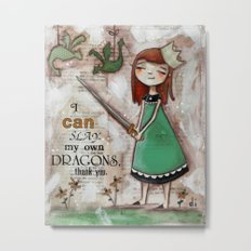 Dragonslayer - by Diane Duda Metal Print
