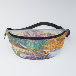 Horse Shed in Winter Fanny Pack
