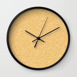 Woven Burlap Texture Seamless Vector Pattern Yellow Wall Clock