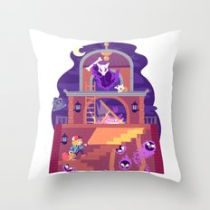 Tiny Worlds - Lavender Town Tower Throw Pillow
