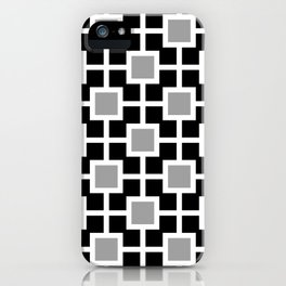 Classic Hollywood Regency Pattern 221 Gray and Black iPhone Case