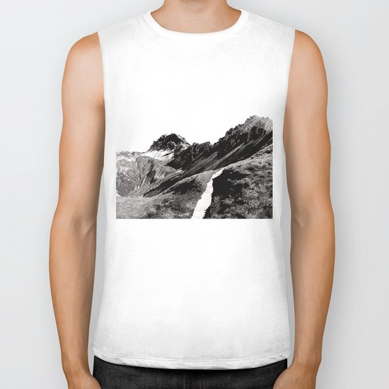 The road below the mountains Biker Tank