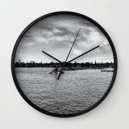 Rogers City shore Wall Clock