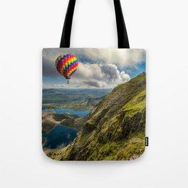 Snowdon Hot Air Balloon Tote Bag