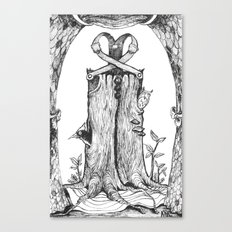 Haunted Clothing- The Eternal Wooden Pants Canvas Print