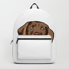 Vizslas Dog Christmas Hat Present Viszla Backpack