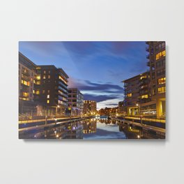 CLAREANCE DOCK AT NIGHT Metal Print