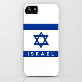 Israel country flag name text  iPhone Case