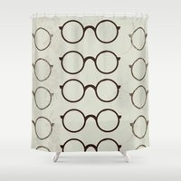 glasses Shower Curtains featuring (Glasses) by Mr & Mrs Quirynen