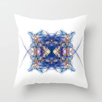 indigo Throw Pillows featuring Indigo by Alla Ilencikova