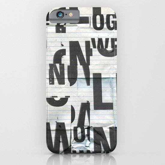 type mess iPhone & iPod Case