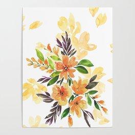 """Floral bouquet """"Felicity"""" Poster"""