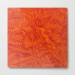 orange red flow Metal Print