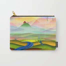 Fantasy valley naive artwork Carry-All Pouch